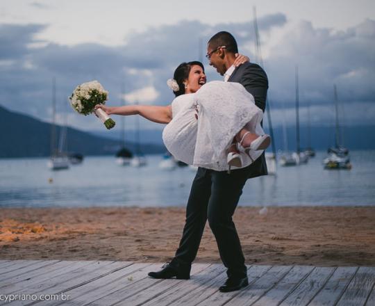 filmagem de casamento na praia